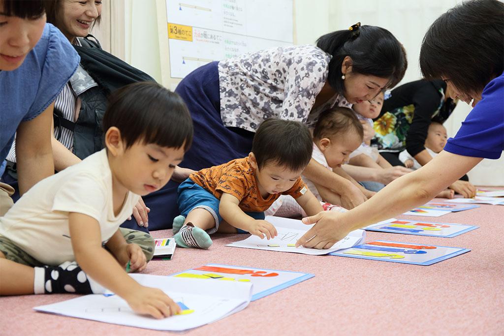 ヘーグル名古屋今池校 幼児部の授業風景