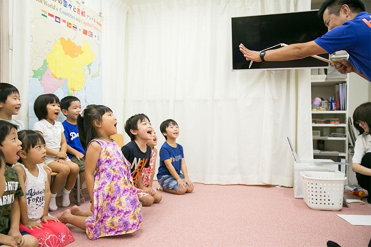 ヘーグル名古屋今池校 プレ小学部の授業風景