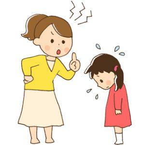 怒鳴る母と怒鳴られる子