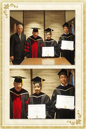 逸見宙偉子、浩督は、『名誉教育学博士』の学位をハワイ国際大学より授与