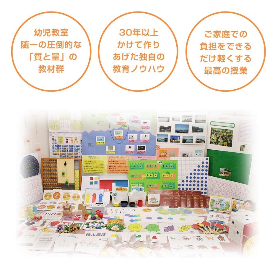 カリキュラムと教材の質・量満足度の高い幼児教室