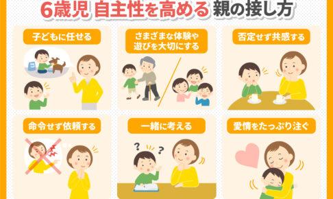 6歳児の自主性を高める親の接し方6選